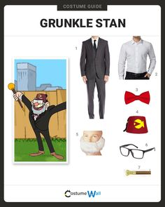 """Animated character Grunkle Stan from Disney series Gravity Falls is also known as Stanley 'Stan"""" Pines. The reasonably liked older man with mysterious"""