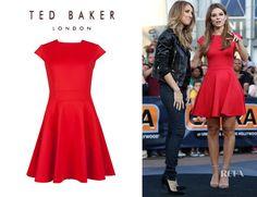 Maria Menounos' Ted Baker 'Tezz' Skater Dress