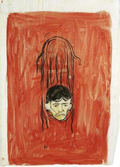 Edvard Munch, Salome Paraphrase, 33 x 46 cm, watercolour with ink and pencil, 1894-1898 (Munch Museum, Oslo, Norway). Munch was probably one of the first artists to produce self-portraits in so many different styles and techniques.