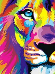Colorful Rainbow Lion iPad Mini Resolution 768 x 1024