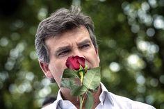 Arnaud Montebourg à Frangy-en-Bresse, lors de sa Fête de la Rose.
