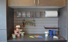 Garage Workbench Display At The Vermont Custom Closets Showroom In  Williston, Vermont.