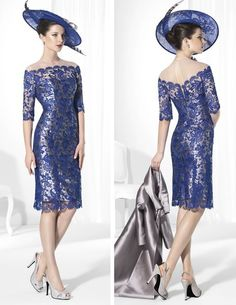 Cheap Mother of the Bride Dresses, Buy Directly from China Suppliers: New 2015 vestido mae da noiva Lace Mother Of The Bride Dress Knee Length Long Satin Coat Stand Collar Women Occa Bridal Dresses, Prom Dresses, Bride Gowns, Lace Dresses, Marine Uniform, Formal Dresses For Women, Mothers Dresses, Knee Length Dresses, Cheap Dresses