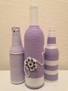 Hey, I found this really awesome Etsy listing at https://www.etsy.com/listing/202409451/decorative-hand-wrapped-bottle-set