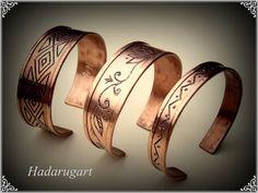 Bratara din cupru Copper Bracelet, Cuff Bracelets, Copper Artwork, Gold Rings, Artisan, Rose Gold, Deviantart, Unisex, Metal