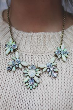 Faux Gemstone Statement Necklace   UOIonline.com: Women's Clothing Boutique