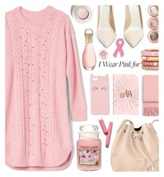 """""""Who Do You Wear Pink For?"""" by tinkabella222 ❤ liked on Polyvore featuring Francesco Russo, Charlotte Russe, rag & bone, Adolfo Courrier, Christian Dior, Yankee Candle, Lancaster, Irene Neuwirth, gap and sweaterdress"""