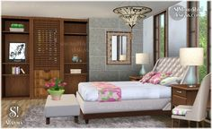 Alfazema Bedroom at Simcredible Designs - Sims 3 Finds The Sims, Sims 1, Sims 3 Rooms, Furniture Sets, Home Furniture, Best Sims, Interior Architecture, Interior Design, Sims Games