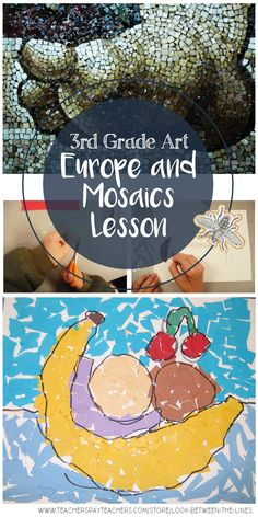I always aim to incorporate art history and artist examples into my lessons. One of my favorite units to teach in elementary school art is my European art unit. This lesson was specifically designed for third grade, and focuses on mosaics in Italy. 3rd Grade Art Lesson, Third Grade Art, Art History Timeline, Art History Lessons, Art Terms, Mosaic Artwork, Art Lessons Elementary, Elementary Schools, School Art Projects