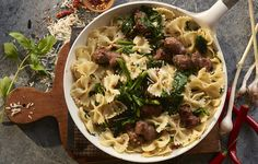 How to Make Spicy Broccoli Rabe and Sausage Pasta #ScratchCookbook