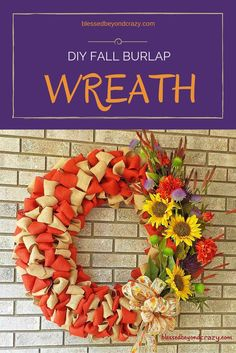 DIY Fall Burlap Wrea