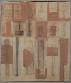 """Mark Goodwin's Hint 2, 2011, rabbit skin glue, pigment, graphite, and milk paint on paper, 37 x 31 1/2"""""""