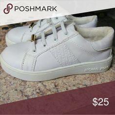 Nwt Girls michael kors sneakers NWT never worn sneakers size 10, white, michael kors! Michael Kors Shoes Sneakers