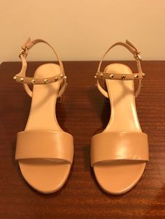 1c92709feef New Stuart Weitzman MYGAL MY Gal Nude Nappa Leather Sandal Heel sz 10 Stud   fashion  clothing  shoes  accessories  womensshoes  sandals (ebay link)