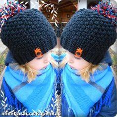 Plyšový kulíšek s bambulí Crochet Kids Hats, Crochet Beanie Hat, Knitting For Kids, Beanie Hats, Knit Crochet, Beanies, Poncho, Baby Jogger, Girl With Hat