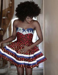 Pretty African Print Dress.