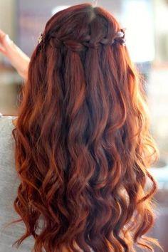 Half Up Braid - Wavy Hair