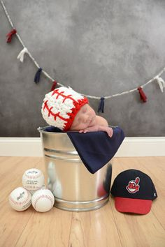 Baby Boy Baseball Softball Hat Cleveland by BellaMariesboutique, $10.00