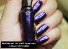 #SkinFood Nail Vita Violet Stone VI408 #nailpolish #Bbloggers | in a nutshell...