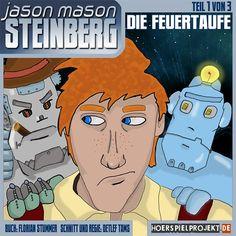 JASON MASON STEINBERG (1) – Die Feuertaufe: Jason Mason Steinberg ist ein junger Agent des galaktischen Geheimdienstes im Ausbildungsjahr. Er ist rothaarig, käsebleich und sommersprossig, hat ein gutes Herz, aber kein Benehmen. Ein richtiger Jungspund, der noch viel lernen muss. Bei seinem ersten Fall wird er mit dem Tod eines Buchhändlers konfrontiert, ohne zu wissen, dass ein böser Schatten aus der Vergangenheit über ihm liegt…    #Hoerspiel #Hoertalk #Hoerspielprojekt #SciFi #Humor