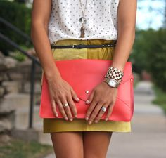 play with the polka dot pattern and color in your outfit