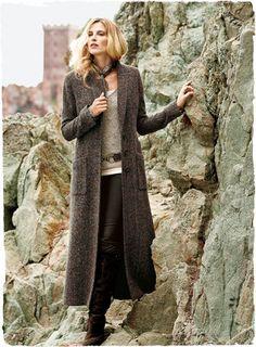 Long Wool Sweater Coat - Coat Nj