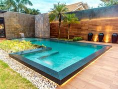 When it comes to cool fun under the hot summer sun, there's nothing better than jumping into a swimming pool. Having your own swimming pool offers vacation fun without the hassle of packing up the family and dealing with busy… Continue Reading → Small Swimming Pools, Luxury Swimming Pools, Small Pools, Dream Pools, Swimming Pools Backyard, Swimming Pool Designs, Pool Landscaping, Small Indoor Pool, Small Backyard Pools