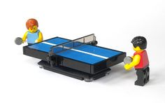LEGO Table Tennis Table (by mijasper)