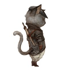 Concept artist and illustrator Kyonghiwan Kim has a set of kittens dressed in typical fantasy RPG clothes.