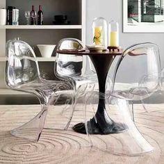 cadeira panton - design - incolor - transparente - acrílica