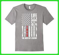 Mens 74th Birthday Gift The Birth of Legends June 1943 T-Shirt Small Slate - Birthday shirts (*Amazon Partner-Link)