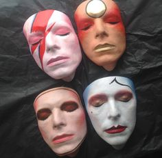 Bowie masks by Mark Wardel.