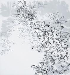 Elena Nieves, Pasionaria II, 2008, tinta sobre papel, 65 x 60 cm.