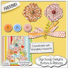 wonderful_world_freebie digital scrapbook freebie