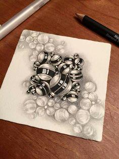 Jetties | Zentangle Tangle unpublished | illustrated by Sonya Yencer