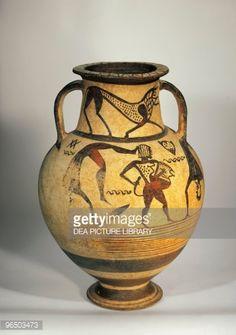 Stock Photo : 7th Century B.C., Germany, Wurzburg, Martin Von Wagner Museum (Art Museum), Etruscan art