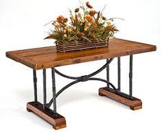 Barnwood Dining Table   Hand Forged Base   Design #2   Item #DT00123