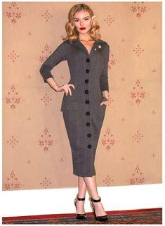 Pin Up Dresses, Dresses Online, Retro Dress, Pencil Dress, Size 16, Vintage Fashion, High Neck Dress, Woman, Cardigans