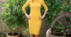 Après le succès, sur le blog mais aussi sur instagram de ma robe Lora verte foncée , de la maison Victor je n'ai pas mis longtemps à coudre la version numéro 2! Mais je vous avais déjà prévenu. J'ai donc cousu la version n°2 en jaune moutarde, plus jaune...