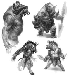 Minotaur Concept - Pictures & Characters Art - God of War: Ascension
