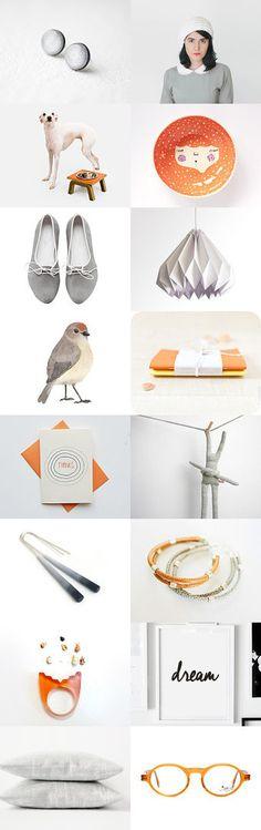 dream :: treasury by Barbara on Gift Guide, Modern Design, Gadgets, Fashion Jewelry, Gray, Orange, Random, Gifts, Accessories