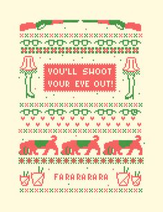 """""""A Christmas Sweater"""" Art Print -- this would make a great cross-stitch! (with the artist's permission, of course!!) (source: http://society6.com/product/A-Christmas-Sweater-RBW_Print)"""