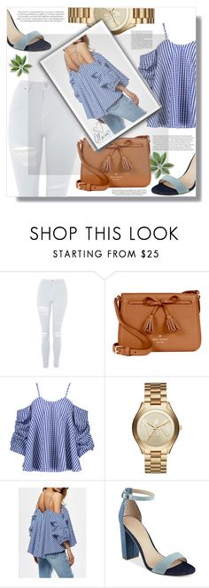 """if you like it, wear it"" by xwafflecakezx ❤ liked on Polyvore featuring Topshop, Kate Spade, Michael Kors, GUESS and Love Always"