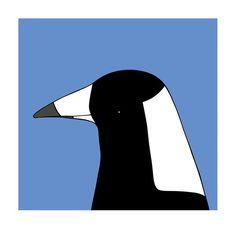 Australian Magpie - bird art by Australian graphic designers Eggpicnic.