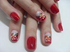 by Lu Arcanjo Love Nails, Nail Arts, Sorority, Nail Art Designs, Acrylic Nails, Mary, Flower, Beauty, Nail Hacks