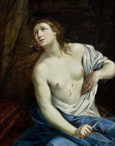 Guido Reni - Lucretia`s Suicide, 1625-40. Oil on canvas. MASP (Museu de Arte de São Paulo Assis Chateaubriand), Brazil.