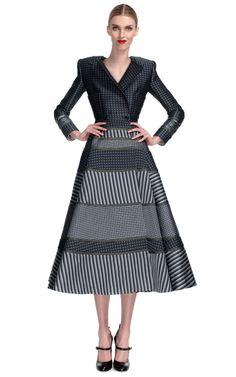 Shop Square Shoulder Coat Dress With Circle Skirt by Thom Browne - Moda Operandi
