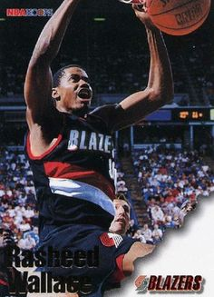 RARE 96/97 SKYBOX NBA HOOPS RASHEED WALLACE PORTLAND TRAILBLAZERS MINT