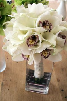 Callas and cymbidiums wedding bouquet Keywords: Wedding bouquet bridal bouquet #wedding #bouquet #bridal #flowers
