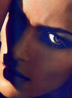 Anja Rubik by Camilla Akrans for Numéro #113 May 2010 #makeup